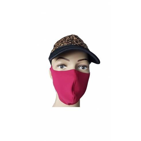 Masca protectie, material textil, rosu