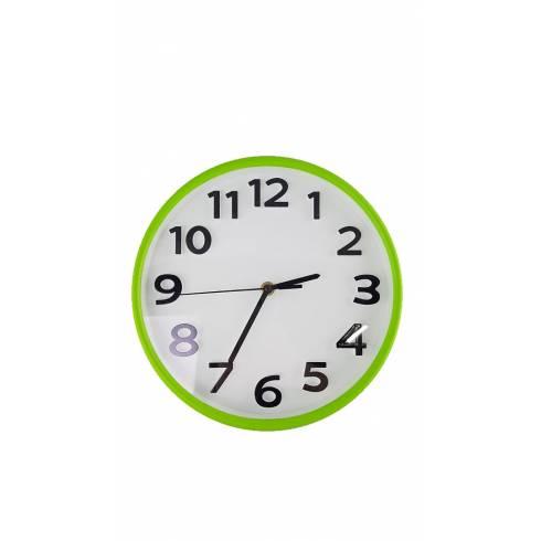 Ceas de perete Hally, alb-verde