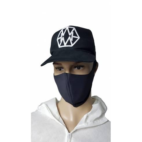 Masca protectie material textil, negru