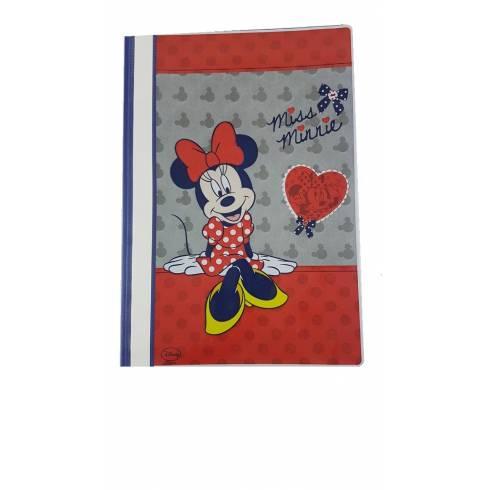 Portofoliu din plastic, albastru cu Minnie