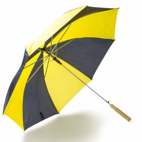 Umbrela galben cu negru