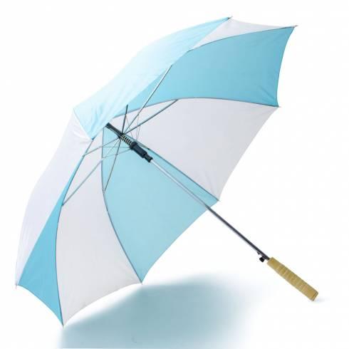 Umbrela alb cu albastru