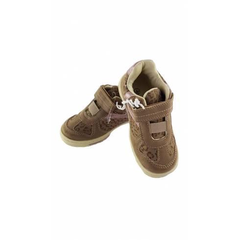 Pantofi fetite maro-roz