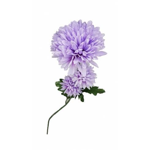 Fir crizantema artificiala mov deschis