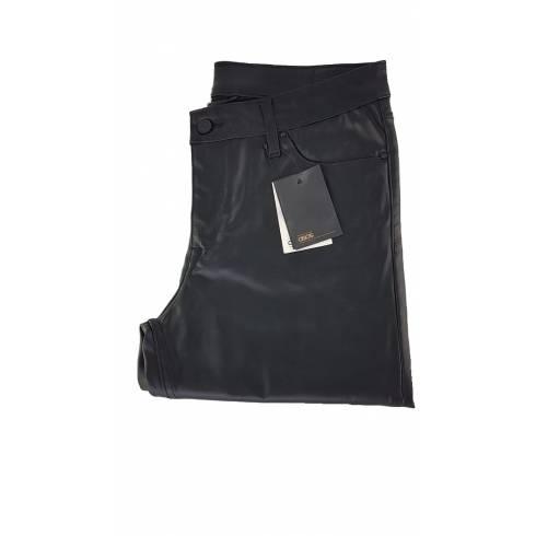 Pantaloni dama cu efect piele, Asos, negri