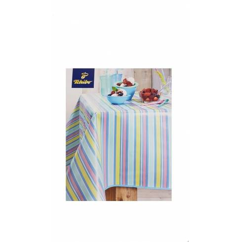 Fata de masa pentru terasa,Tchibo,multicolor in dungi