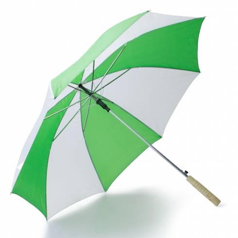 Umbrela alb cu verde
