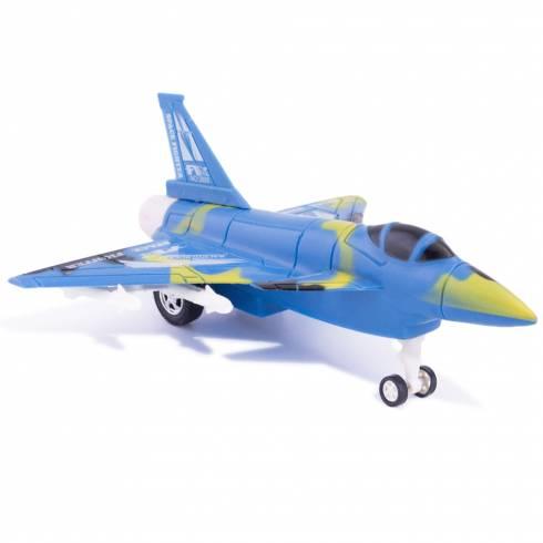 Avion de jucarie, din plastic, albastru