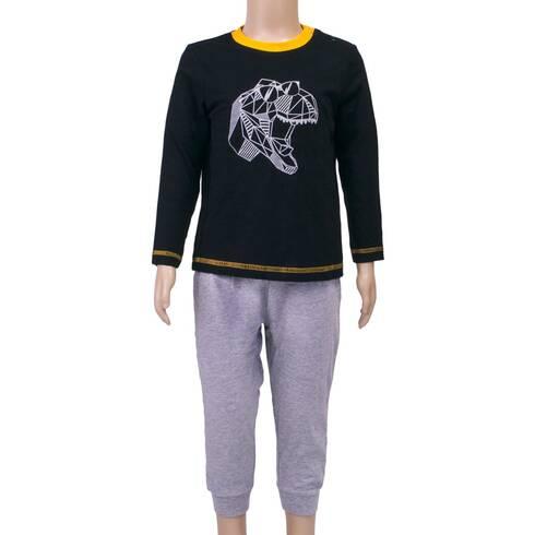 Pijamale copii, gri-negru