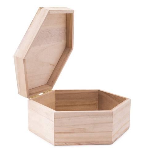 Cutie decorativa din lemn pentru bijuterii