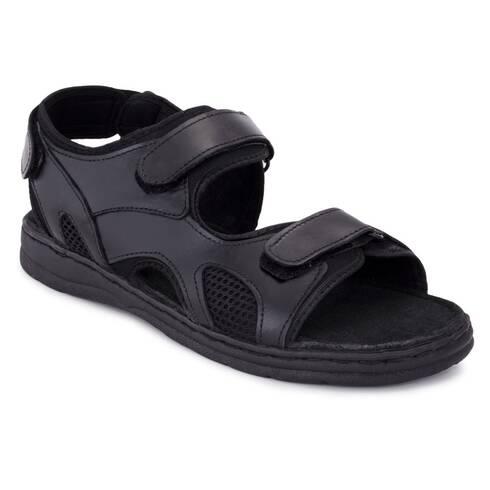 Sandale barbati Moza-x, negre, cu scai