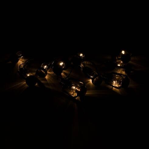 Ghirlanda luminoasa decorativa, cu led, negru