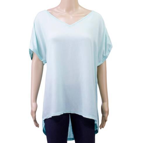 Tricou femei, Esmara, albastru-deschis