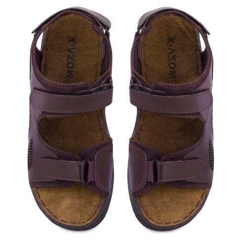 Sandale barbati Moza-x, maro, cu scai