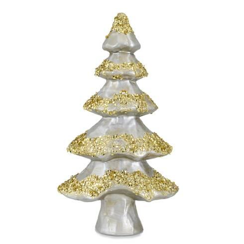 Bradulet decorativ, din plastic, auriu