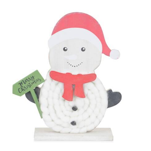 """Figurina decor Om De Zapada, cu mesaj """"Merry Christmas"""""""