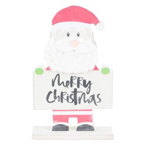 """Figurina decor Mos Craciun, cu mesaj """"Merry Christmas"""""""