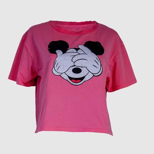 Tricou femei roz , Mickey, Zara
