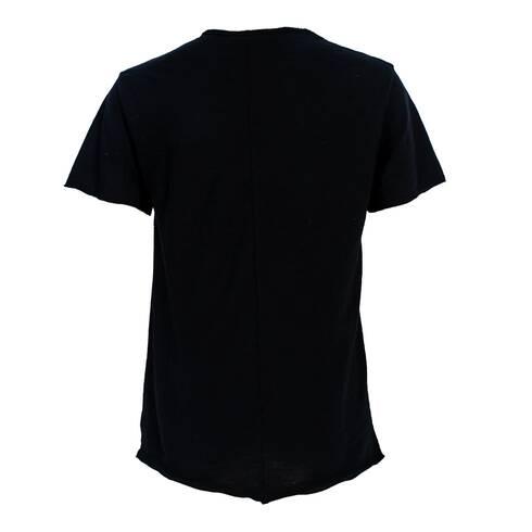 Tricou negru, cu buzunar