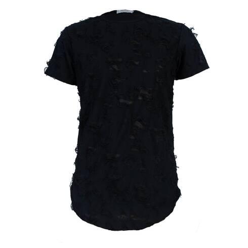 Tricou negru, taiat