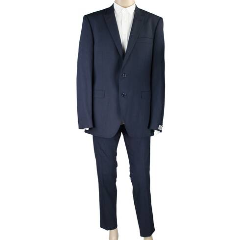 Costum barbati Seroussi, negru, din lana si elastan