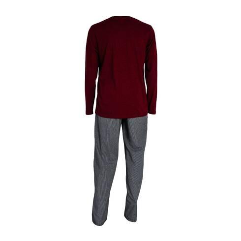 Pijamale barbati, Livergy, visiniu-negru