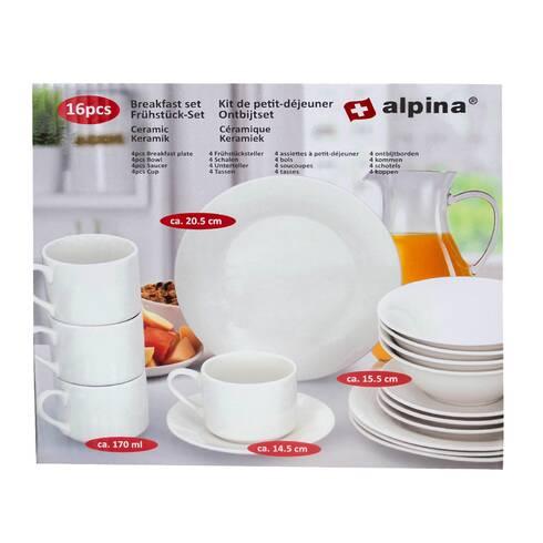 Set mic dejun Alpina, 16 piese