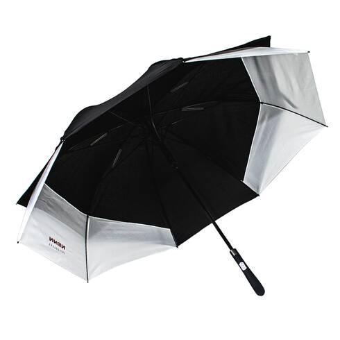 Umbrela ovala, negru cu alb