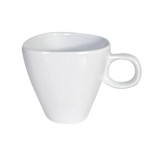 Ceasca de cafea din ceramica, alba, 150 ml