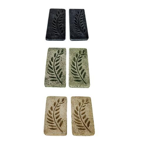 Placa relief, frunze de palmier