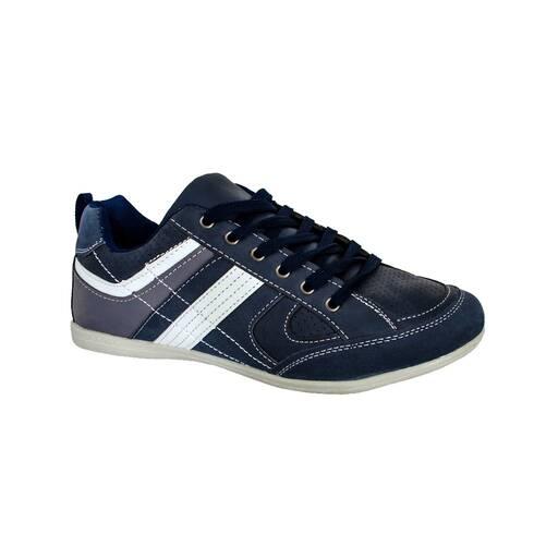 Pantofi sport barbati, gri-alb