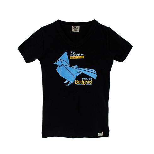 Tricou copii POLICE BODYKID,  negru cu albastru