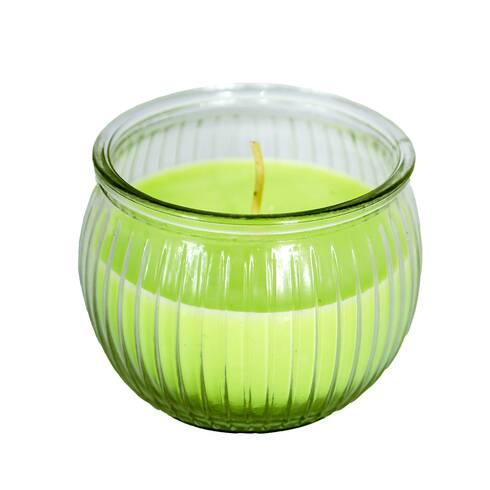 Lumanare in pahar de sticla, cu miros de pepene galben