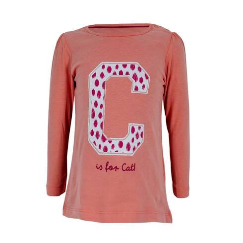 Bluza fetite, portocaliu cu litera C
