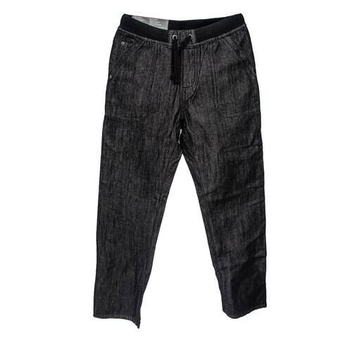 Pantaloni negri, cu snur
