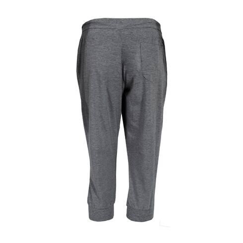 Pantaloni trening dama, trei-sferturi, gri