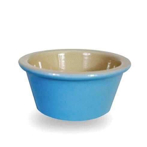 Sosiera din ceramica, albastru-crem