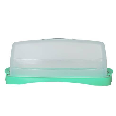 Suport pentru cozonac din plastic, cu capac