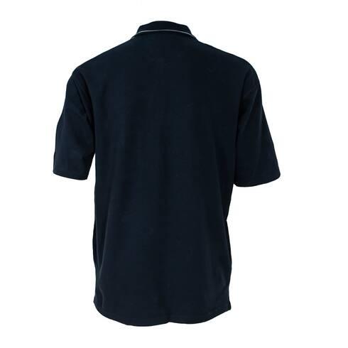 Tricou barbati, negru-gri cu guler