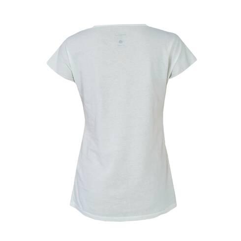 Tricou dama, alb cu model visiniu