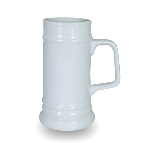 Vaza decorativa, din ceramica, alba