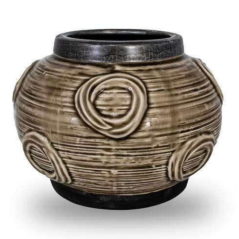 Vaza decorativa din ceramica, maro