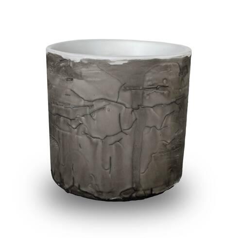 Vaza decorativa din ceramica, gri