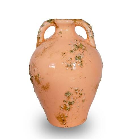Vaza vintage roz, in forma de ulcior