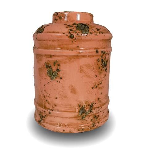 Vaza cilindrica vintage, roz piersica