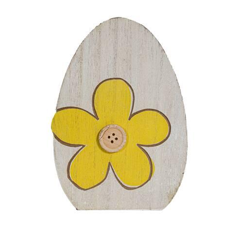 Decoratiune, din lemn, galben-maro