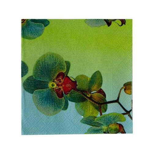 Servetele de masa, cu flori de orhidee