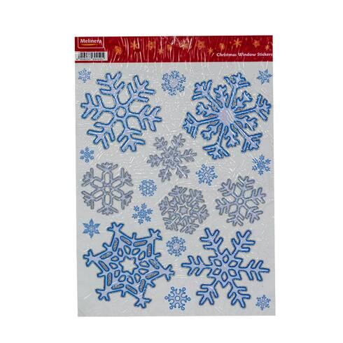 Stickere pentru sarbatorile de iarna,  set fulg de nea