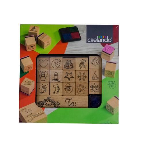 Set stampile cu motive decorative de Craciun