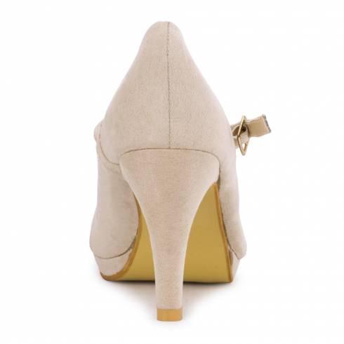 Pantofi dama, Feli Rose, bej, cu bareta
